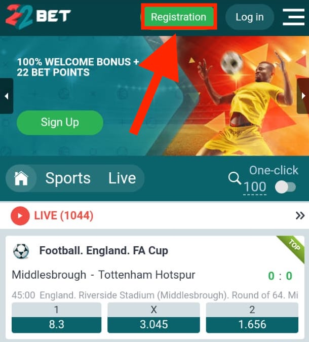 22bet main page
