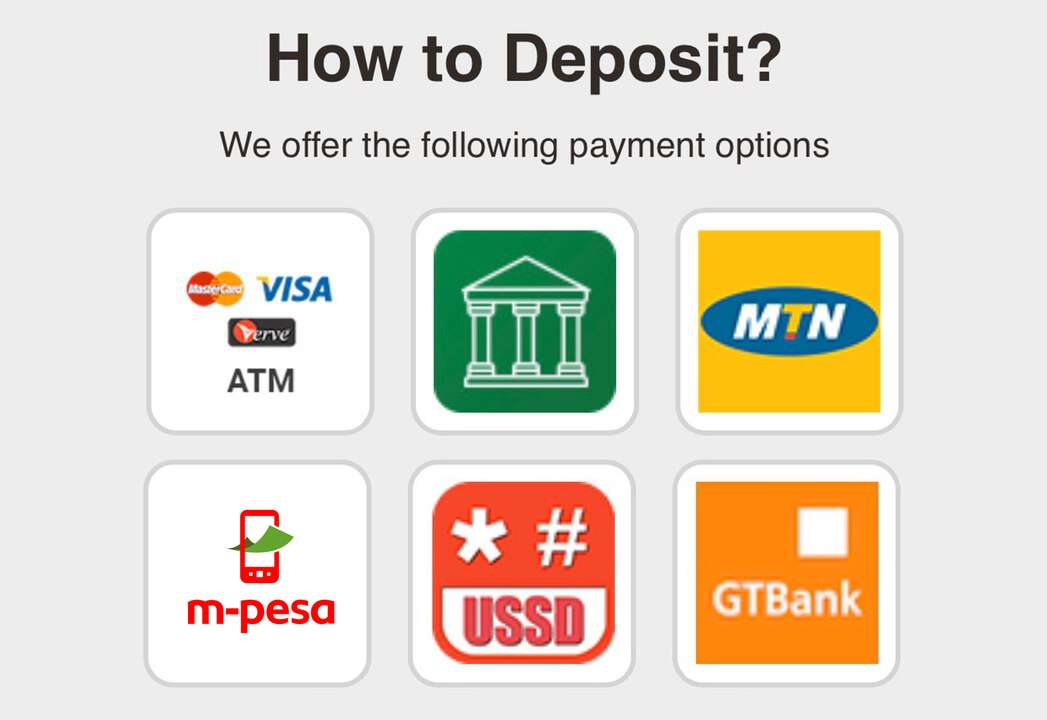 deposit methods betpawa